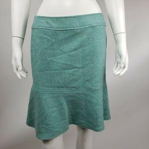 GAP Blue Green Wool Blend Skirt Size 8